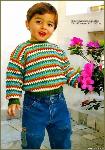 Гардероб Вязание спицами: Кофта для мальчика Шерсть. вязанные кофты.