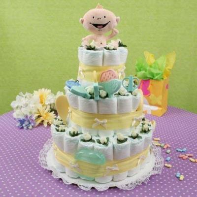 Мастер класс торт из памперсов 30
