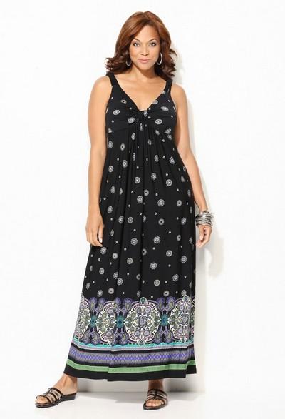 Описание: модели платьев 2012 осень для полных.