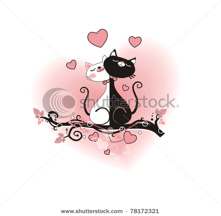 4708174_stockphototwoillustratedcatsonatwig78172321 (450x439, 37Kb)