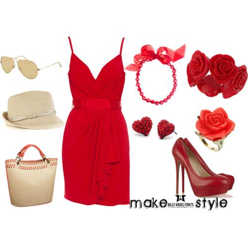 С чем носить красное платье?  Make-Style.  Интернет-издание для женщин.