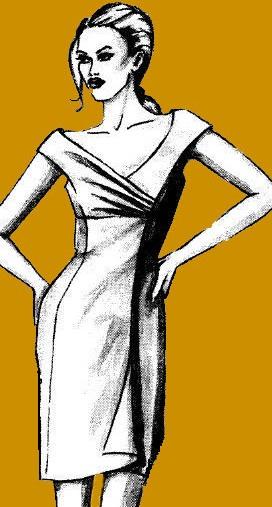 ...выкройку-основу платья по собственным меркам, строим чертеж платья с...