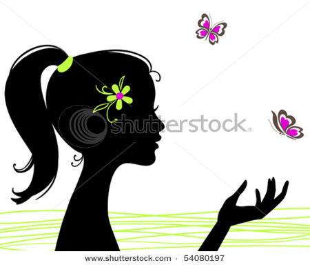 stock-vector-beautiful-girl-silhouette-with-butterfly-54080197 (450x384, 38Kb)