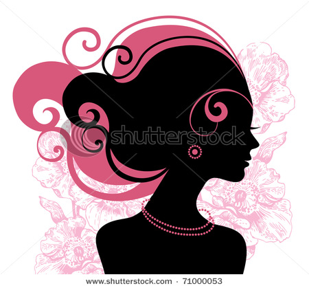 stock-vector-beautiful-woman-silhouette-with-flowers-71000053 (450x419, 68Kb)