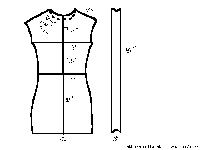 Sweater Dress Pattern (640x480, 51Kb)