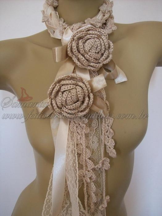свой цитатник или сообщество!  Связать шарф крючком Схемы.