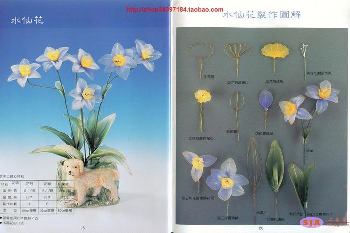 Мастер-класс в картинках по изготовлению цветов из колготок.