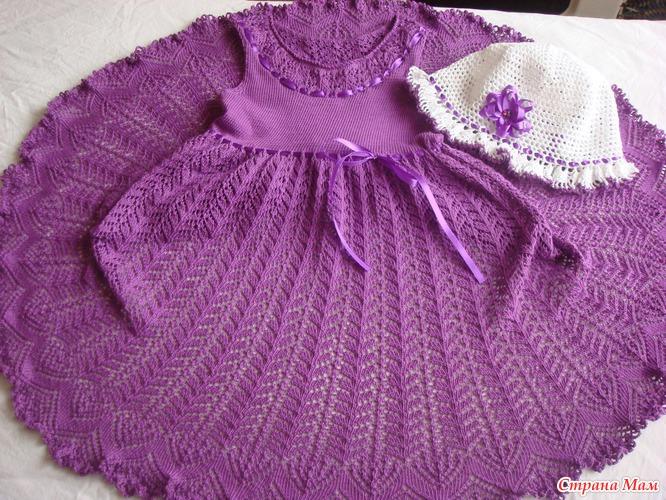 Вязание для малышей платьев спицами