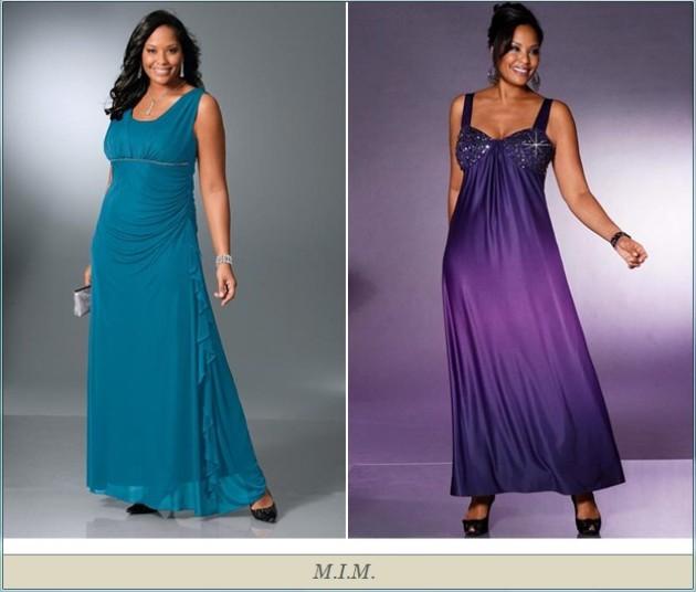 И еще два просто потрясающих вечерних платья для полных женщин.