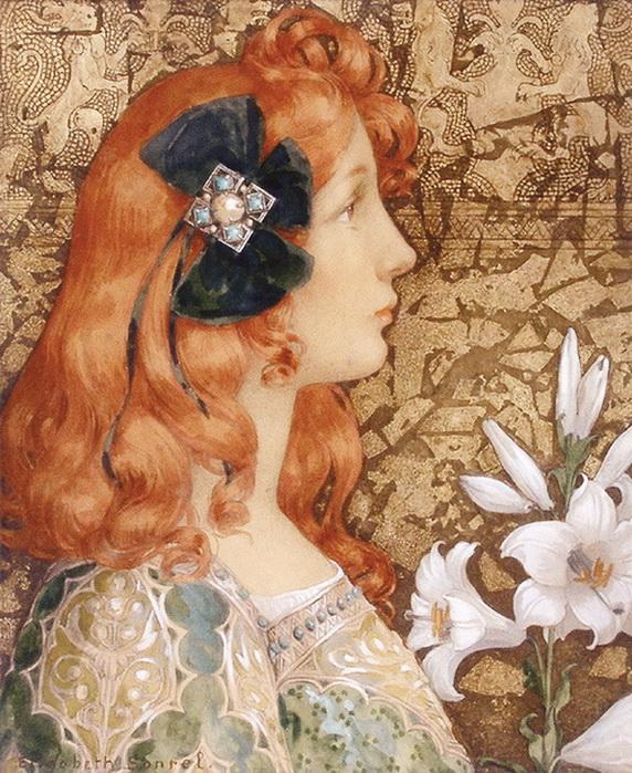 Cow Parsley 1953 Part Of The Post: Елизабет Сонрель / Elisabeth Sonrel (French, 1874