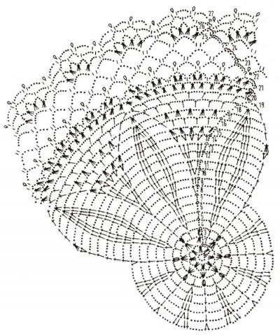 вязание крючком салфетки и скатерти схемы вязания