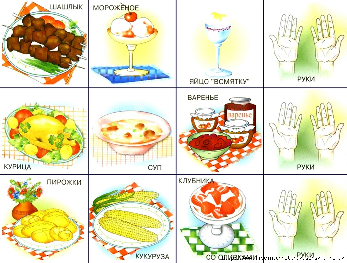 Картинки блюд в доу