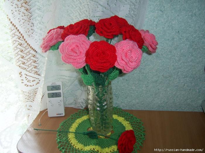 вязаные цветы и листики записи в рубрике вязаные цветы и листики