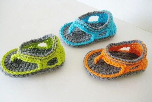 вязаные сандалики самое интересное в блогах