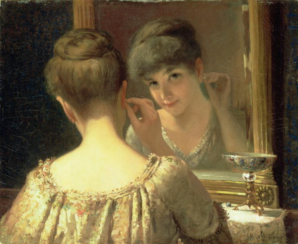 The-Coquette-1885-xx-James-Wells-Champney (600x493, 204Kb)