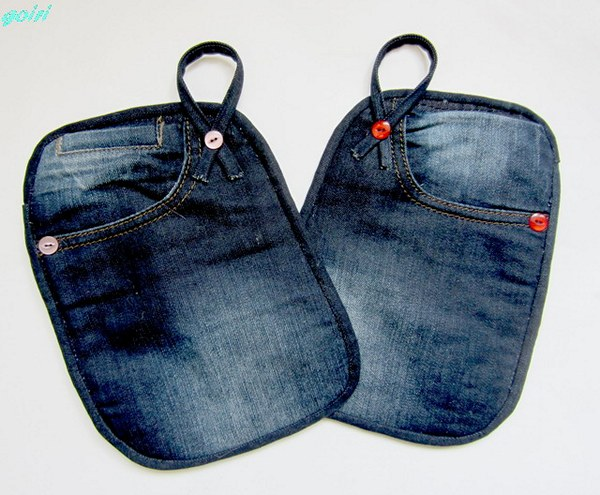 Прихватки из старых джинсов своими руками фото