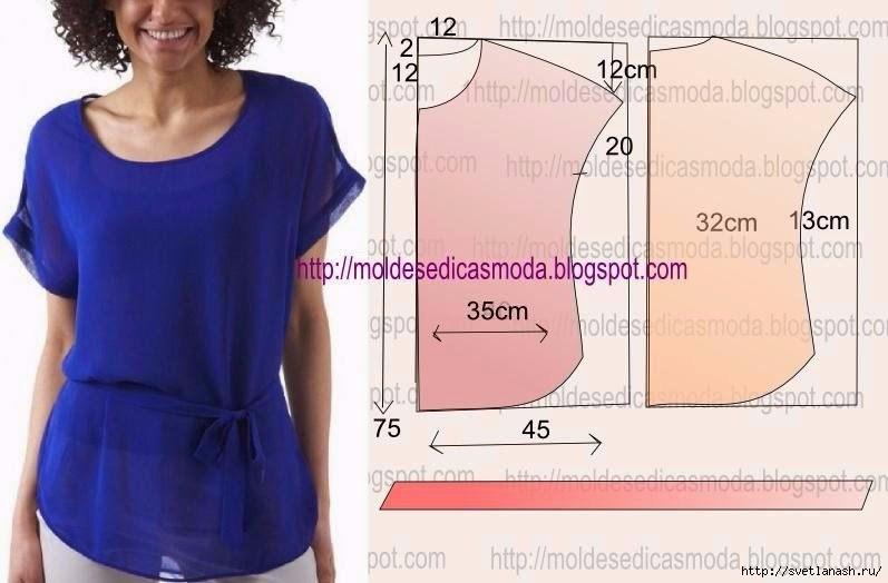 Шитьё блузка мастер класс своими руками #10