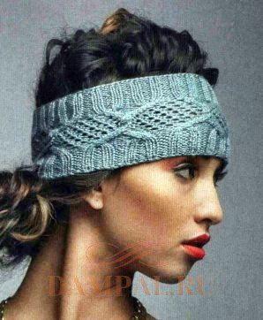 вязаная повязка на голову самое интересное в блогах