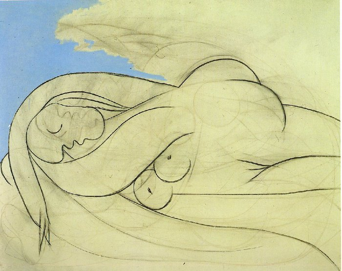 Picasso Femme nue couchee. 13-March 1932. 130 x 162 cm. Oil  (700x555, 78Kb)