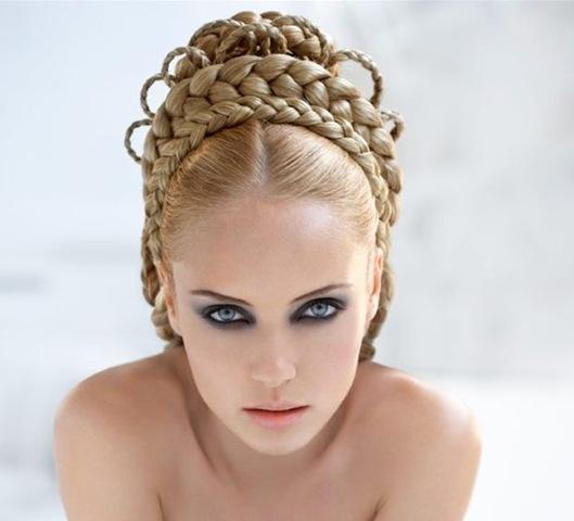 Виды плетения кос.  Комментарии.
