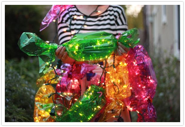 Гирлянда в виде конфет для детского праздника своими руками Alamella.ru