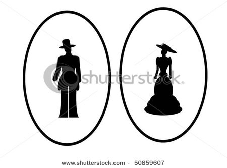 stock-vector-lady-and-gentlemen-silhouette-50859607 (450x333, 24Kb)