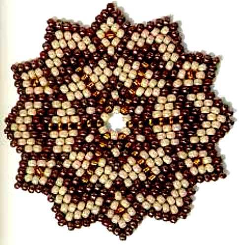 Бисер плетение ромбами