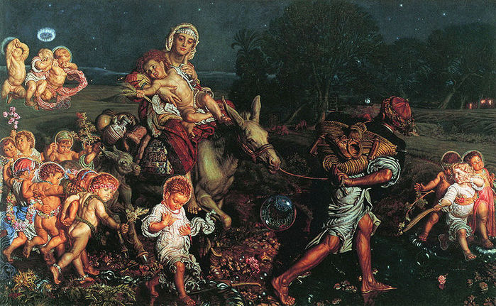 Уильям Холман Хант(William Holman Hunt) 3166706_43638371_The_Triumph_of_the_Innocents (800x490, 121Kb)
