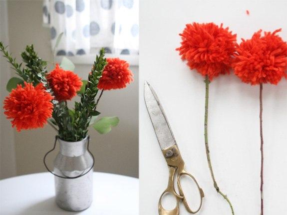 Как сделать цветы из ниток - Изготавлимаем цветы