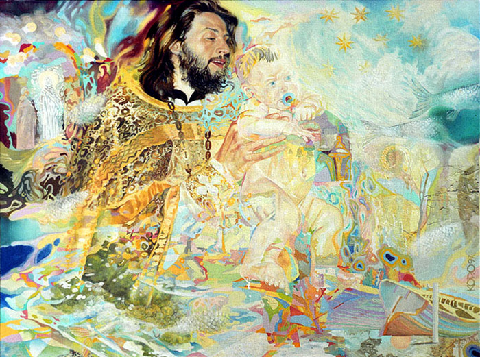 Сюрреалистическая иконопись Олега Королёва 44 (700x521, 241Kb)