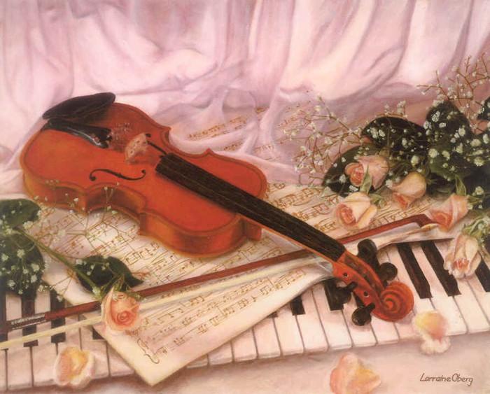 Картинка с днем рождения скрипачу