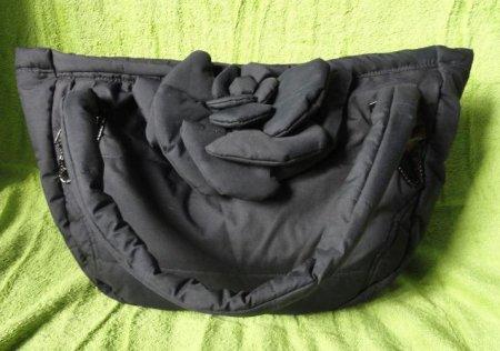 Новая сумка из старой куртки и прохудившейся сумки.