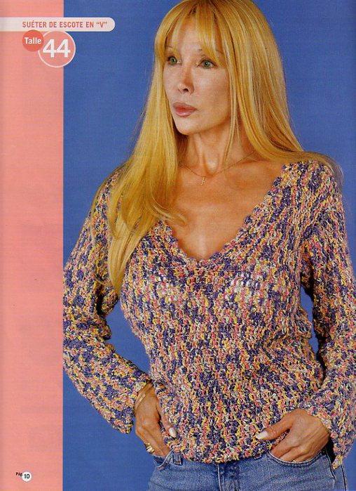 связать свитер женский.