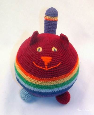 любителям вязаных котов посвящается игрушка кот антистресс