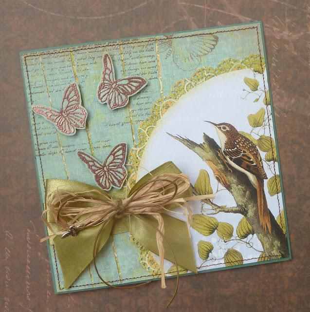 Сопливая, бабочка открытка скрапбукинг