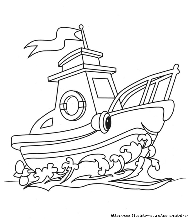 Корабль картинки раскраски для детей