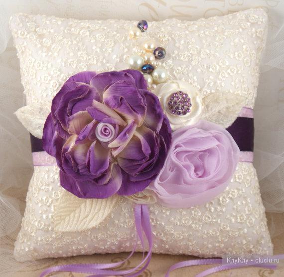 Свадебные подушки своими руками / Украшение для дома к празднику. Упаковка подарков, подарочные коробки своими руками / КлуКлу.