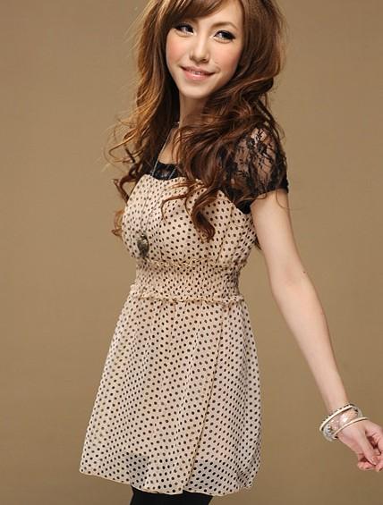 Модное шифоновое платье.