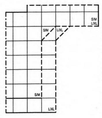 Построение выкройки рукава реглан классического типа макетным способом.