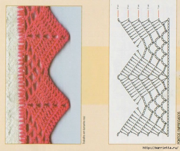 Винтажное вязание крючком. Много винтажных идей со схемами barradinho_15 (607x508, 162Kb)