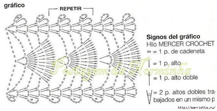 Винтажное вязание крючком. Много винтажных идей со схемами CrocheMacramGf1 (700x357, 128Kb)