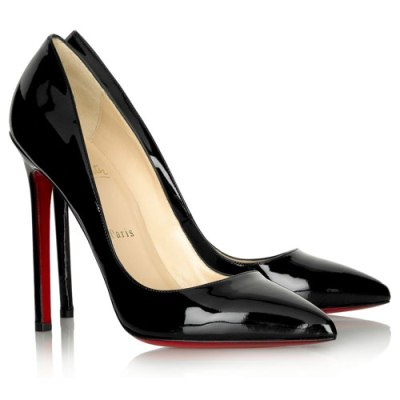 Christian Louboutin Pigalle Leather Black Pumps (400x400, 18Kb)