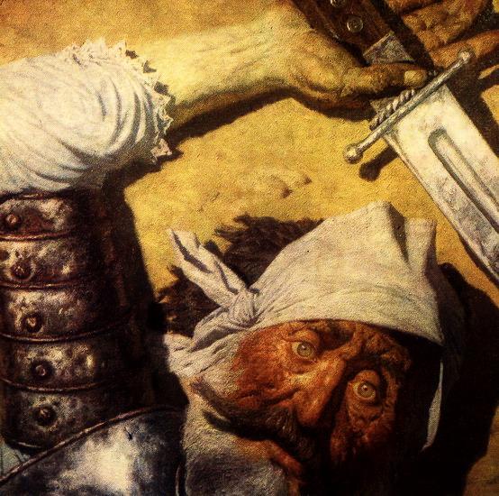 Поверженный Дон Кихот (554x550, 132Kb)