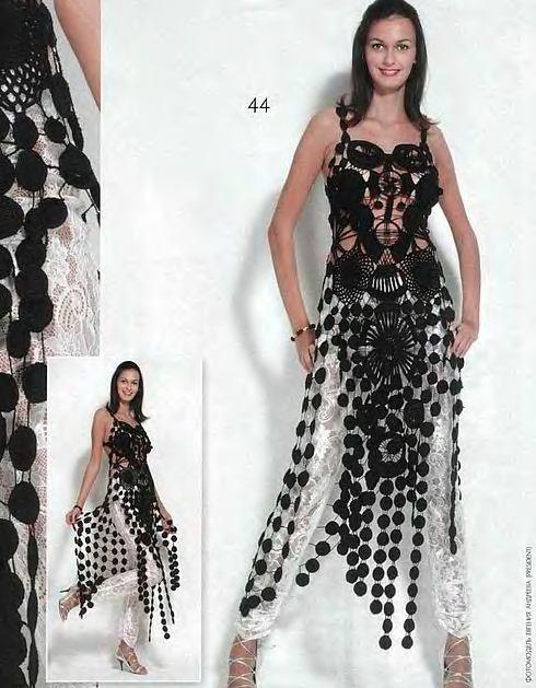 платье крючком оригинальное вяжем