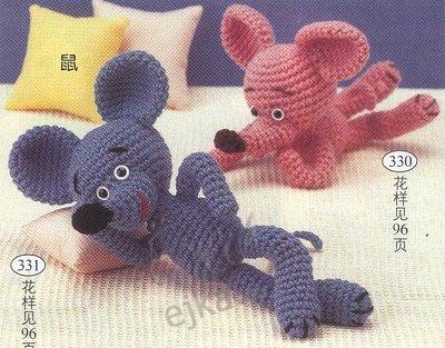 вязание крючком схемы игрушка мышка