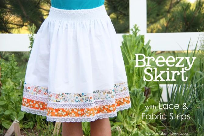 Посмотрите как просто и оригинально можно сшить летнюю юбку для девочки.
