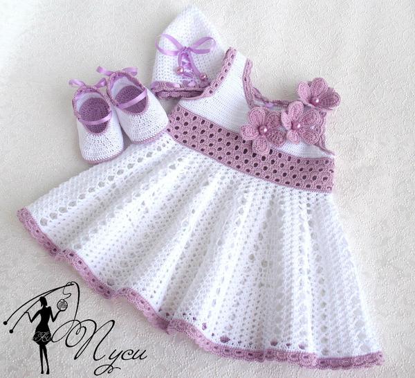 платья детские вязанные фото