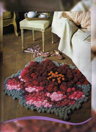 Очень красивый коврик.  Нашла на http://club.osinka.ru.