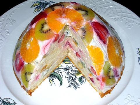 творожно фруктовый десерт с желатином