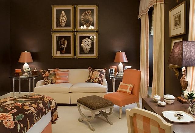 дизайн спальни в английском стиле.